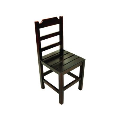 Cadeira Fixa De Madeira Paulista Com Assento Ripado - Imbuia