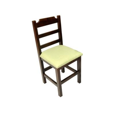 Cadeira Paulista De Madeira Com Estofado Verde Encosto Anatomico - Imbuia