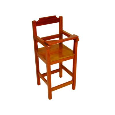 Cadeira Bebe De Madeira Com Trava Com Assento Ripado - Natural