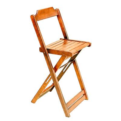 Cadeira Bistro Dobravel De Madeira (Prime) - Natural