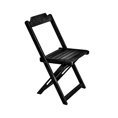 Cadeira Prime De Madeira Encosto Anatomico - Preto
