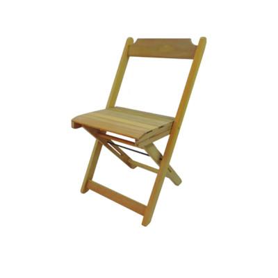 Cadeira De Madeira Dobravel - Natural