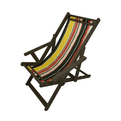 Cadeira Espriguiçadeira Em Madeira Imbuia Listrada
