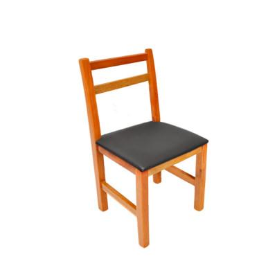 Cadeira Floripa De Madeira Ideal Para Bar E Restaurante Assento Preto - Natural