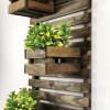 Suporte Para Flores E Plantas Vertical Madeira 100x50 Imbuia Claro
